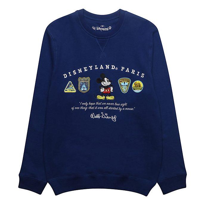 Disneyland Paris Sweatshirt logos Mickey bleu pour adultes
