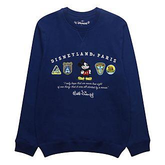 Disneyland Paris Mickey Mouse Blue Logo Sweatshirt For Adults
