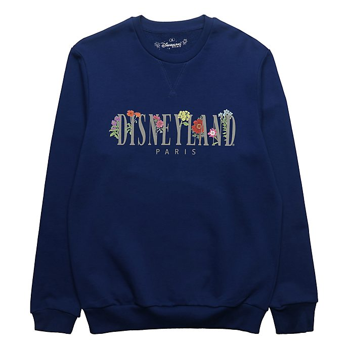 Disneyland Paris Sweatshirt World Flowers bleu pour adultes