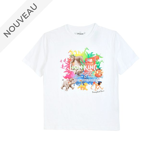Disneyland Paris T-shirt Le Festival du Roi Lion et de la Jungle pour adultes