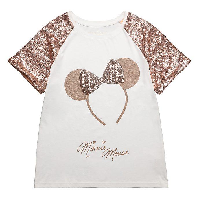 Disneyland Paris T-shirt Minnie bandeau rose doré pour adultes