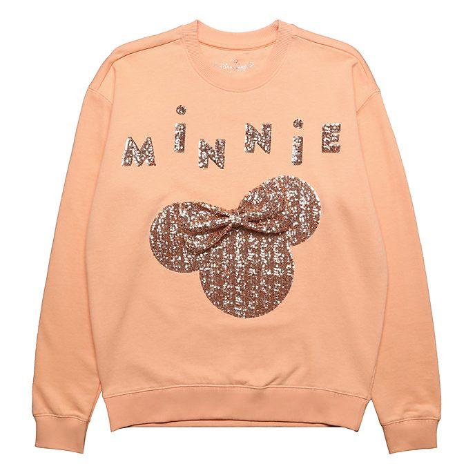 Disneyland Paris Sweatshirt Minnie bandeau rose doré pour adultes