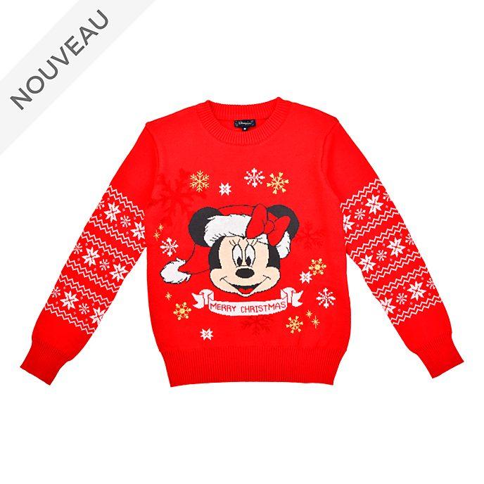 Disneyland Paris Pull de Noël lumineux Minnie pour adultes