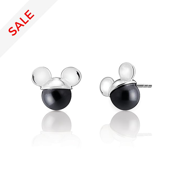 Chamilia Mickey Mouse Crystal Pearl Stud Earrings