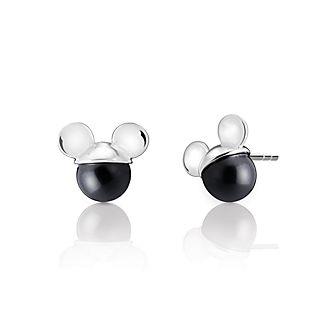Pendientes de botón Mickey Mouse con perla de cristal, Chamilia