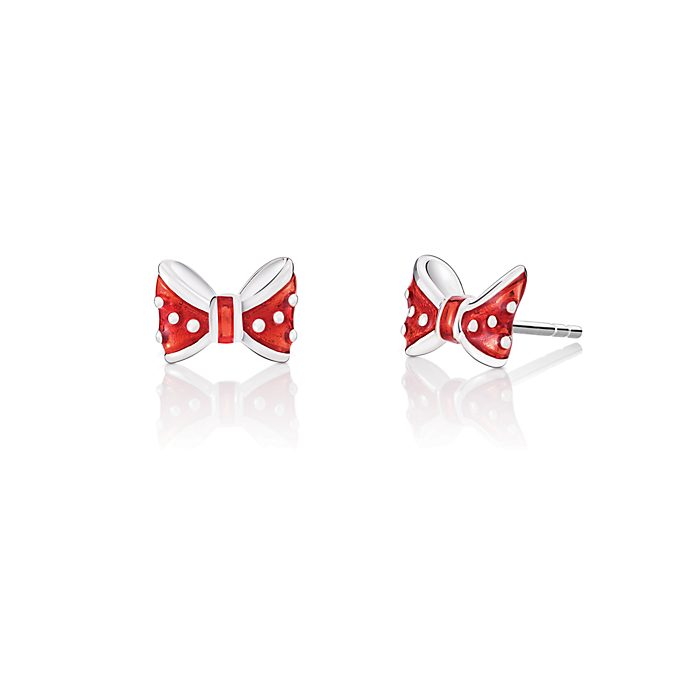 Chamilia Minnie Mouse Bow Silver Stud Earrings