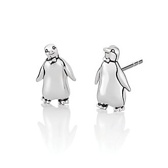 Pendientes botón plata pingüino El regreso de Mary Poppins, Chamilia