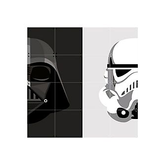Panel decorativo de Darth Vader y un soldado de asalto de IXXI, Star Wars