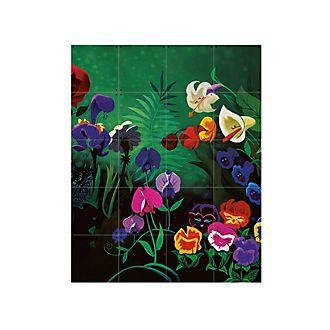 Alice im Wunderland - IXXI - Wandschmuck mit Blumen