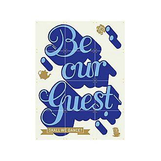 IXXI Art mural ''Be Our Guest'', La Belle et la Bête