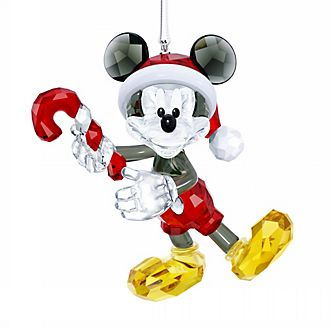 Swarovski Mickey Mouse Festive Crystal Hanging Ornament