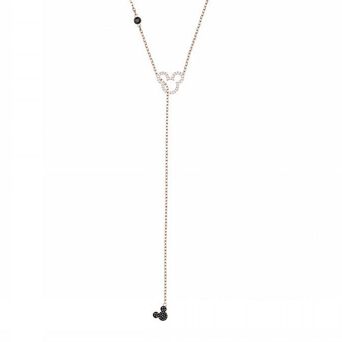 Swarovski - Micky Maus - roségoldene Halskette mit Silhouette aus klarem Kristallpavé