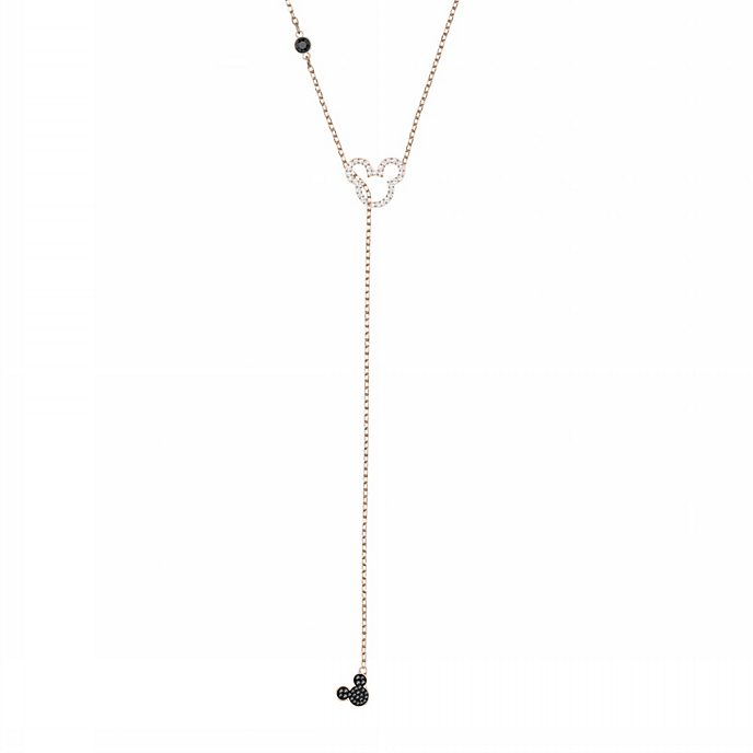 Swarovski Mickey Mouse Clear Icon Rose Gold-Plated Necklace