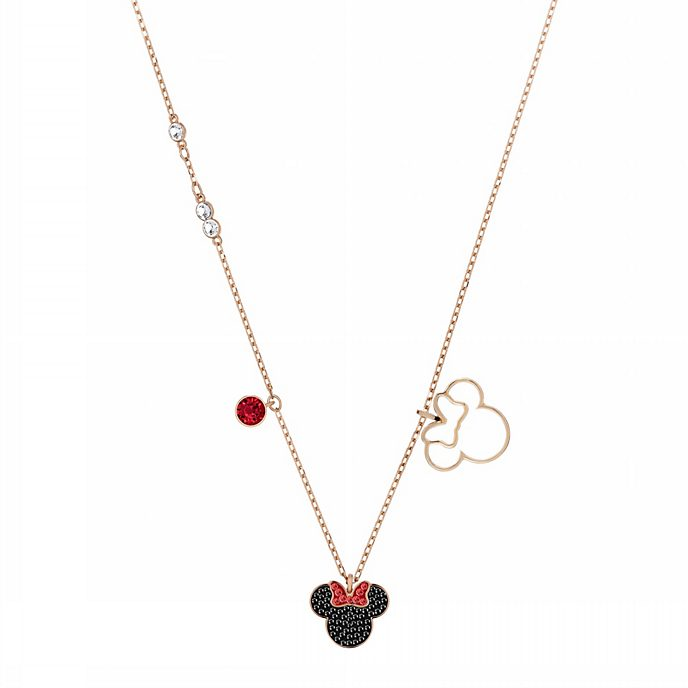 Swarovski Collier Minnie Mouse plaqué en or rose