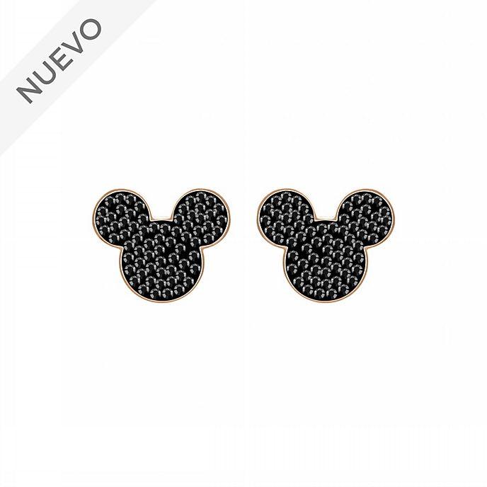 Swarovski pendientes bañados en oro rosa icono Mickey Mouse