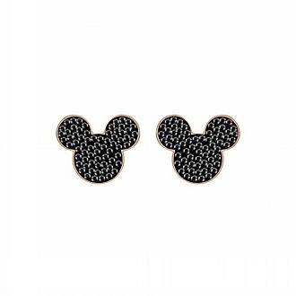Swarovski Boucles d'oreille Mickey Mouse plaquées en or rose