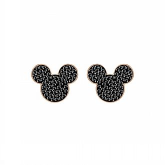 Swarovski Mickey Mouse Icon Rose Gold-Plated Earrings