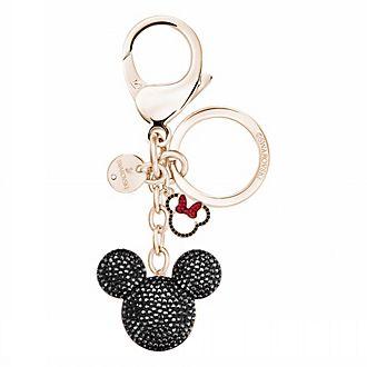 Swarovski llavero bañado en oro rosa Mickey Mouse