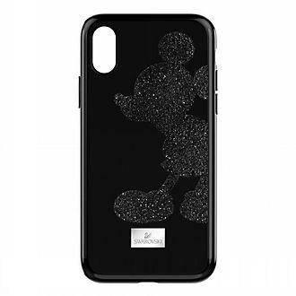 Swarovski carcasa para iPhone X negra Mickey Mouse