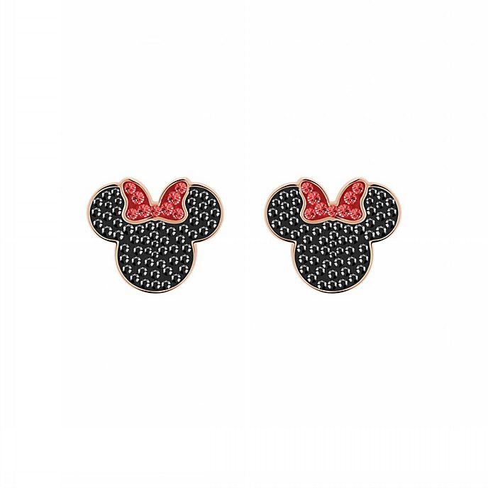 sortie d'usine mignonne mieux aimé Swarovski Boucles d'oreille Minnie Mouse plaquées en or rose
