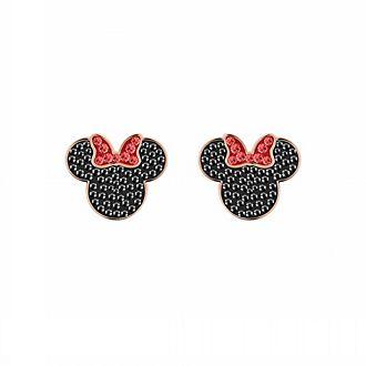 Swarovski Boucles d'oreille Minnie Mouse plaquées en or rose