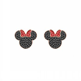 Swarovski Minnie Mouse Icon Rose Gold-Plated Earrings