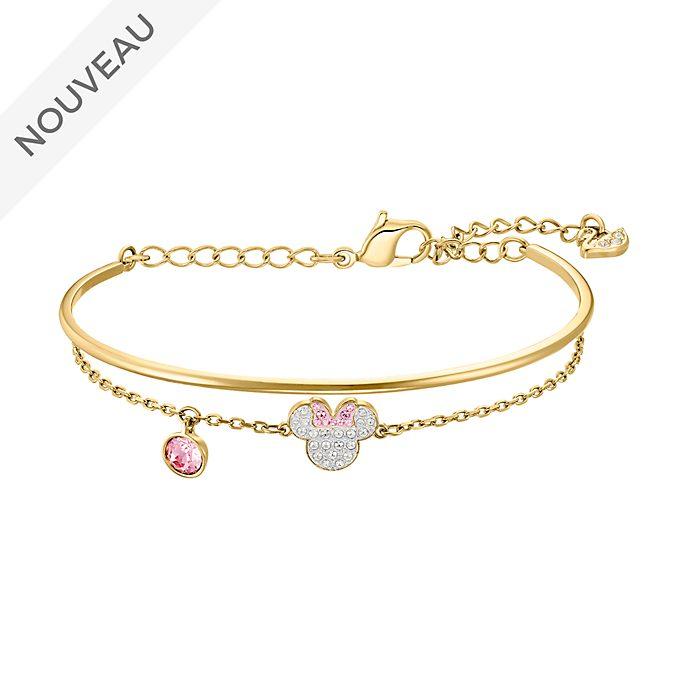 Swarovski Bracelet Minnie plaqué or