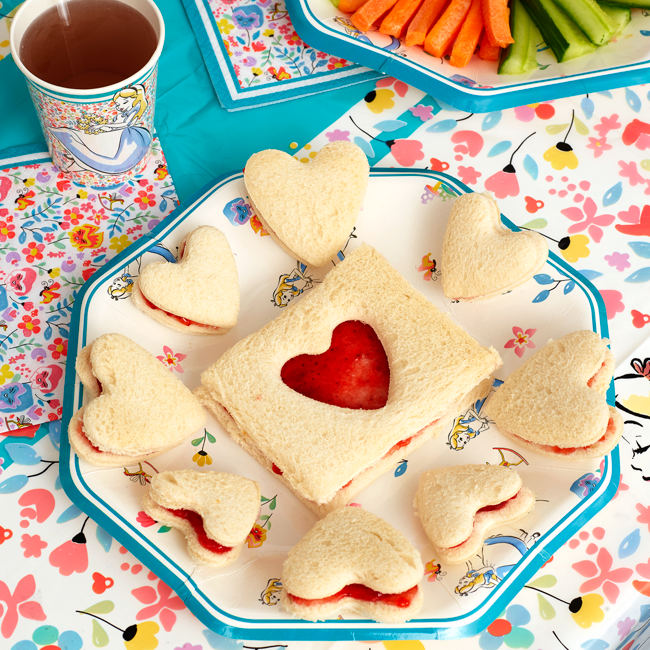 Alice in Wonderland Mad Hatter Tea Party Sandwiches
