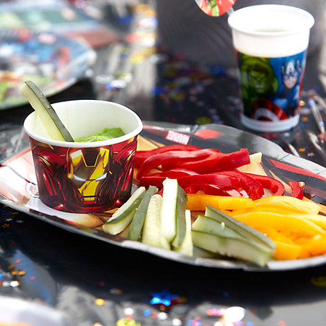 Avengers Veggie Dippers with Guacamole