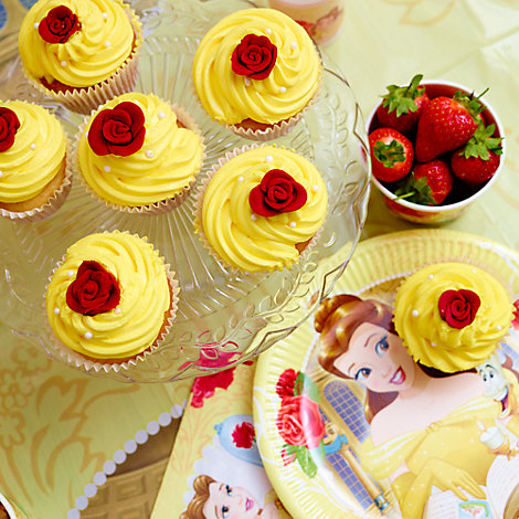Beauty and the Beast Inspired Rose Cupcake Recipe