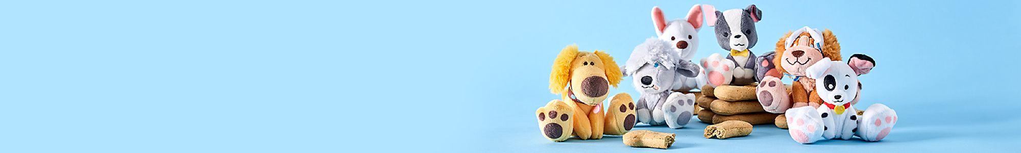 Des amis tout doux Nous nous sommes inspirés des chiens légendaires de Disney pour vous proposer ces peluches Tiny Big Feet Oh My Disney Sortie le 30 août