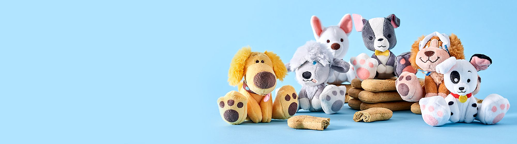 Paw-some Little Pals Inspired by iconic Disney dogs, we bring you our Oh My Disney Tiny Big Feet soft toys
