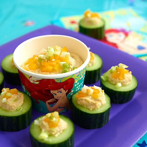 The Little Mermaid Coral Cucumber Snacks