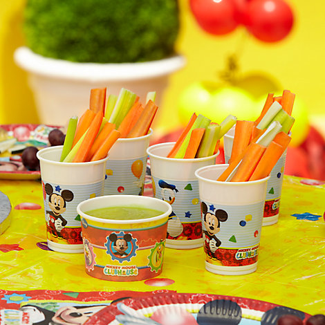 Mickey Mouse Vegetable Sticks & Pea Dip Recipe