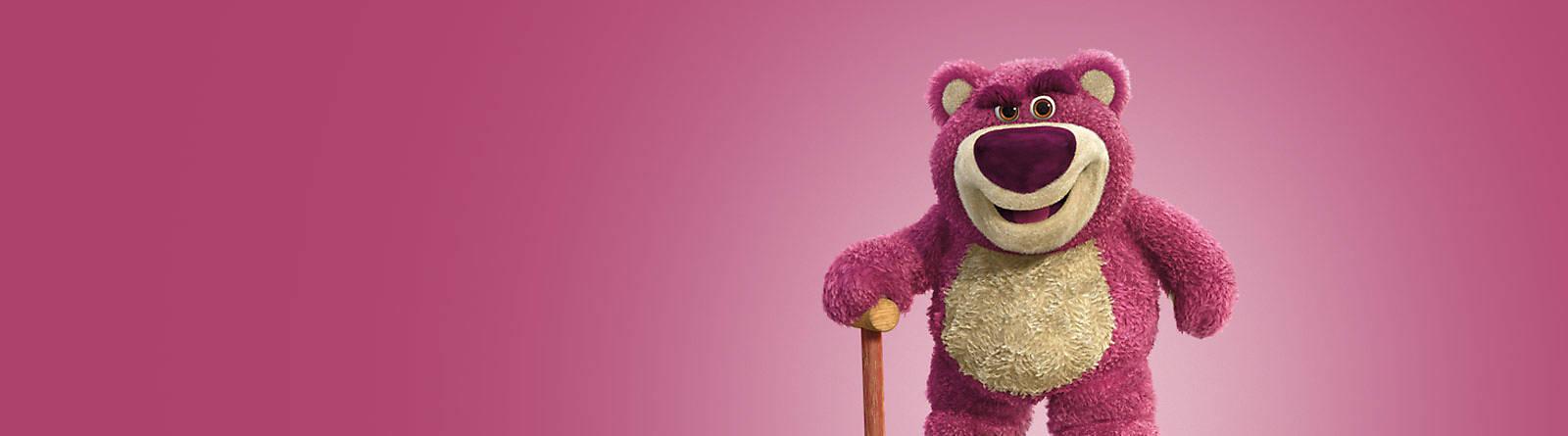 Lotso Descubre la colección de productos de Lotso, el oso amoroso de Toy Story. Hazte con tus favoritos. ¿A qué esperas?