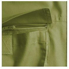 zippered pocket with velcro