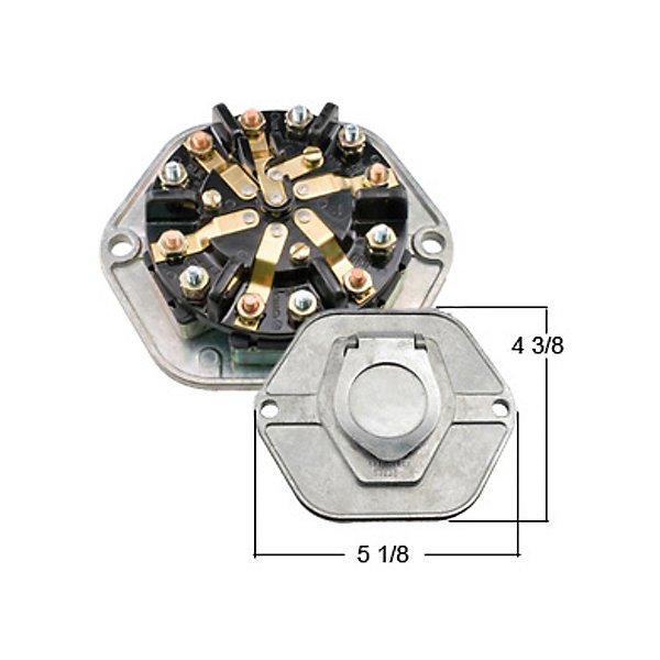 Haldex - Receptacle 7Way, 20 Amp - MIDBE24020