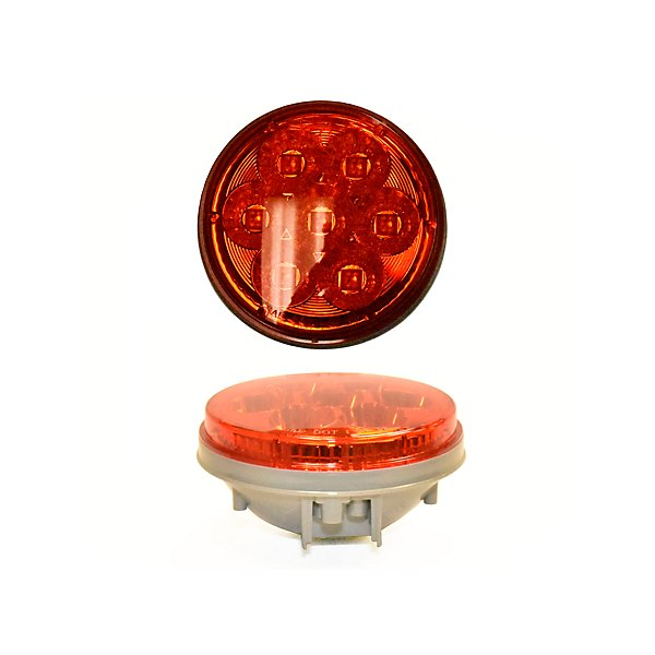 Jetco Heavy Duty Lighting - 4IN ROUND RED STT 7 LED LAMP - JET127-45070RB
