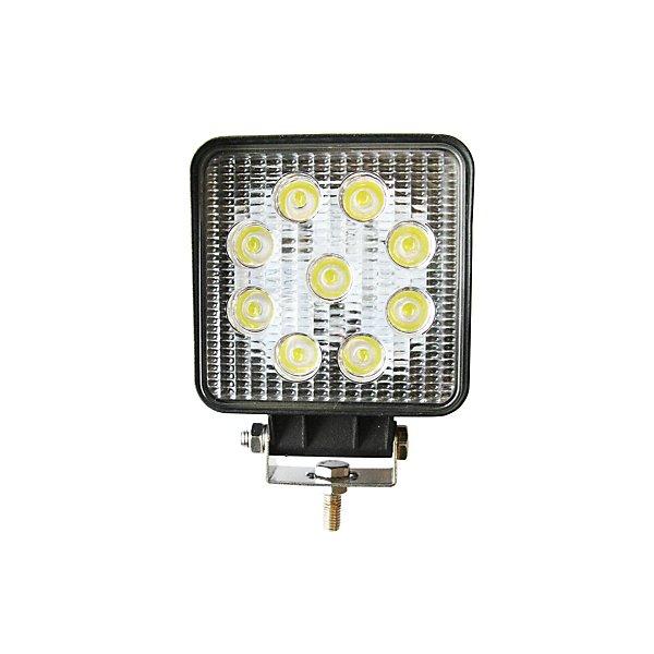Jetco Heavy Duty Lighting - Work Lamp-4.00 In-Led-Square-Flood- 10-30V-27W - JET300-391F-8