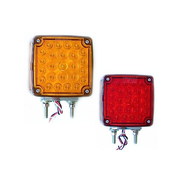 Jetco Heavy Duty Lighting - Pedestal Lamp-Square- 4.50 In-Led-Dual Stud-Left Hand - JET127-66035L