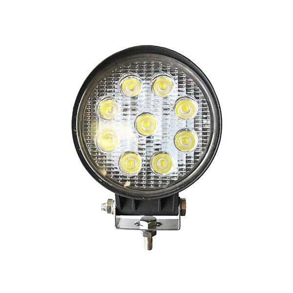 Jetco Heavy Duty Lighting - Work Lamp- 4.50 In - Led-Round-Flood- 10-30V-27W - JET300-390F-8