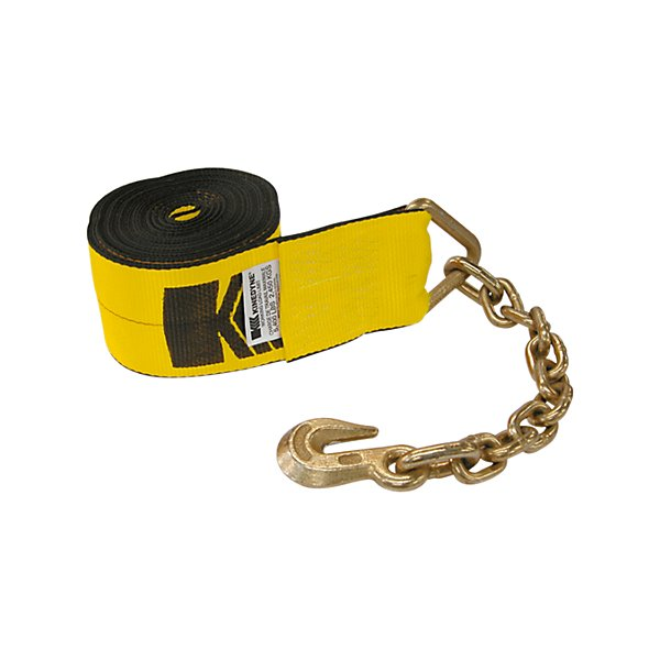 Kinedyne - 4 In Winch Strap with 3705-3 Chain Anchor - 30 Ft. - NKI423040