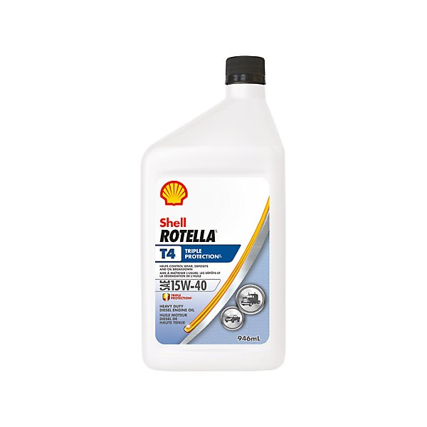 Shell - Rotella T4 Triple Protection 15W40 Motor Oil - 946 ml - SHE550045124