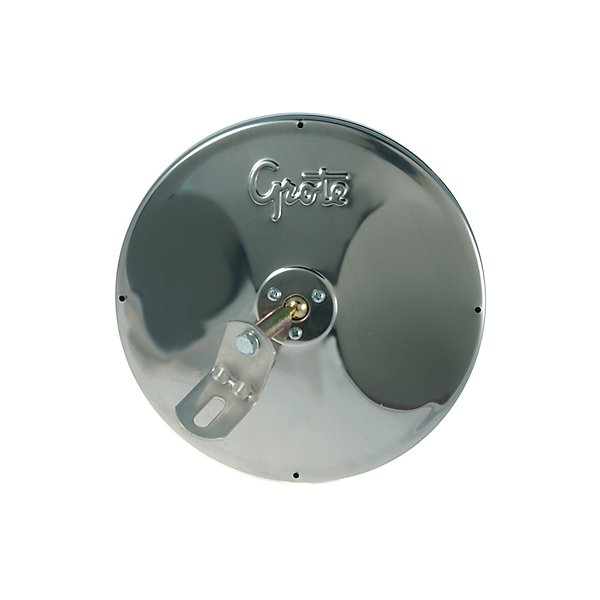 "Grote - Mirror - Exterior Rear View 8"" Round Convex w/ Center Mount Ball Stud Stainless Steel - GRO12293"