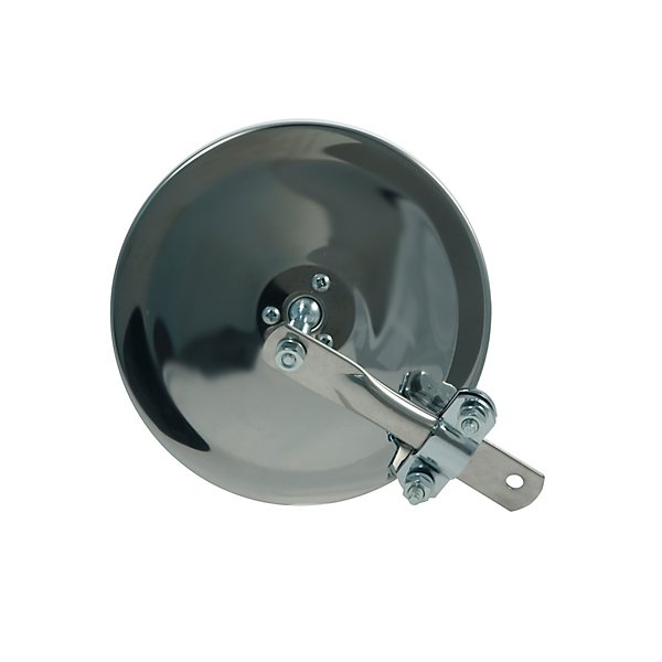 """Grote - Mirror - Exterior Rear View Round Clamp On Stack & Spot Mirror, 6"""" Convex Stainless Steel - GRO28043"""