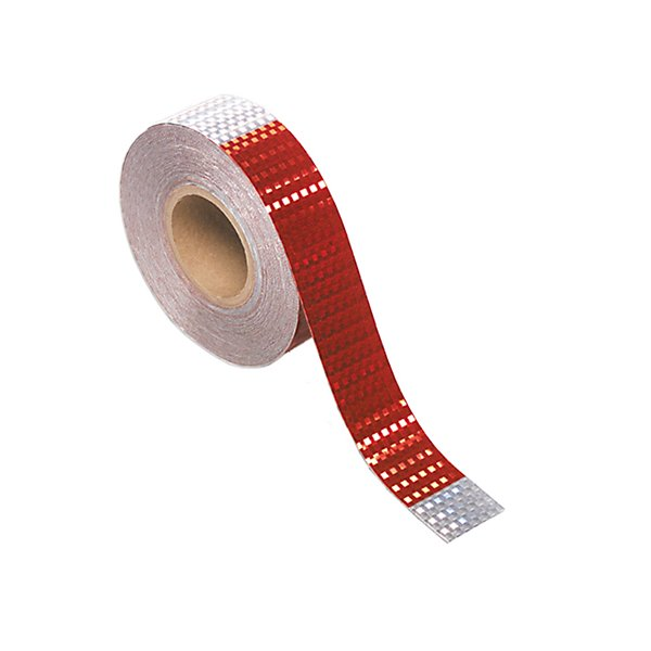 Grote - Reflective Conspicuity Tape 2in x 150ft Roll - 7 in. Silver x 11 in. Red - GRO41160