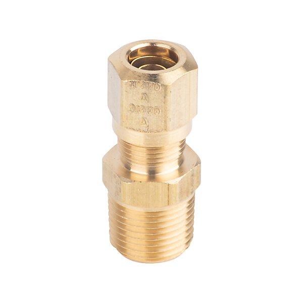 Fairview - Connector 3/8 T X 3/8 MPT - Brass D.O.T. Air Brake Fitting - FAI1468-6C