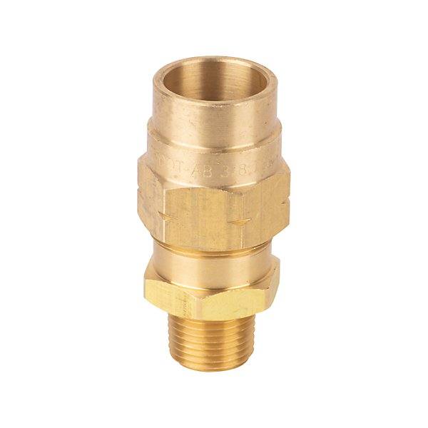 Fairview - Coupler Assy 3/8 Hose ID X 3/8 MPT - Brass D.O.T. Air Brake Hose Coupling - FAI1492-6C