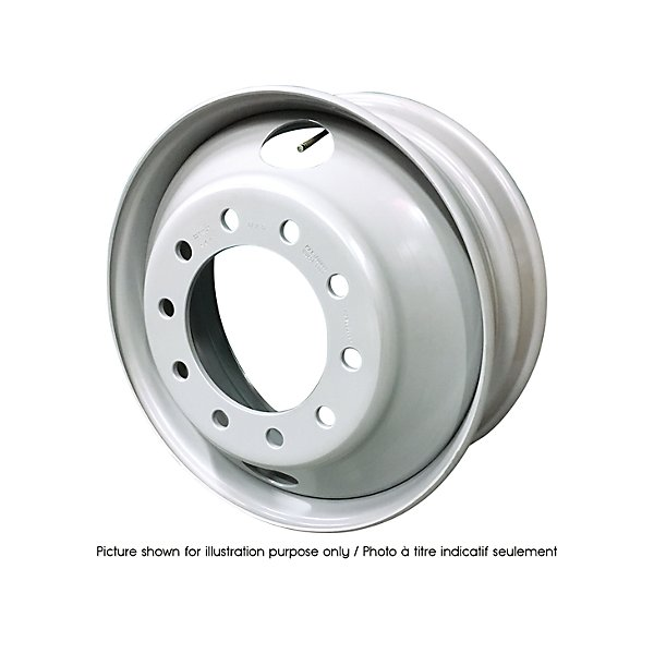 HD Plus - Steel Wheel - 22.5 in. X 8.25 in. - 2 Hand Holes - 10 Bolt Holes - HDW28408E