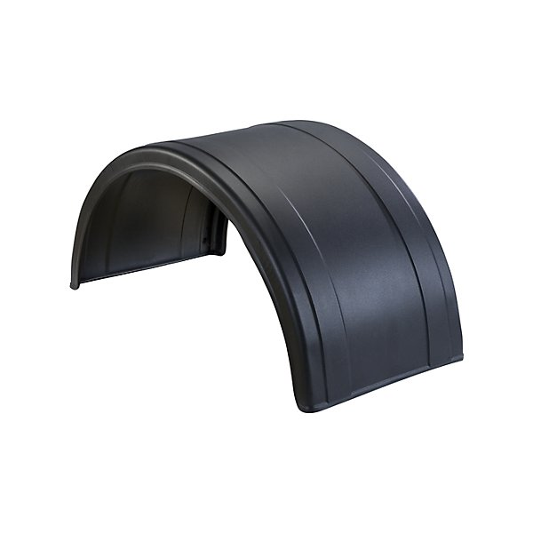Nu-Line - Poly Round Fender Black Pair - NULNF180PX